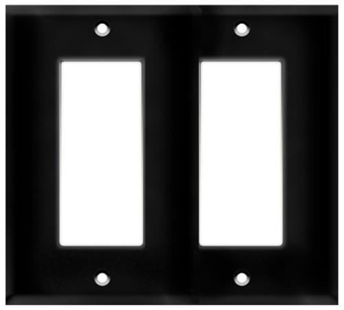 (WD2B) Decorative Wall Plate 2-Gang Black