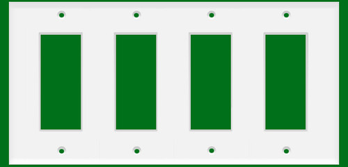 (WD4W) Decorative Wall Plate 4-Gang White