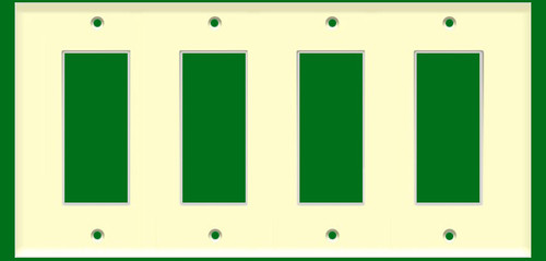 (WD4A) Decorative Wall Plate 4-Gang Almond
