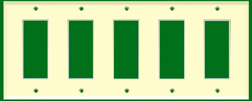 (WD5A) Decorative Wall Plate 5-Gang Almond