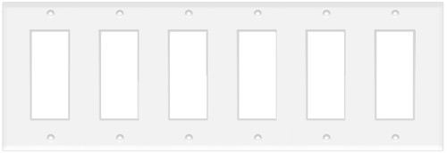(WD6W) Decorative Wall Plate 6-Gang White