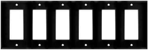 (WD6B) Decorative Wall Plate 6-Gang Black