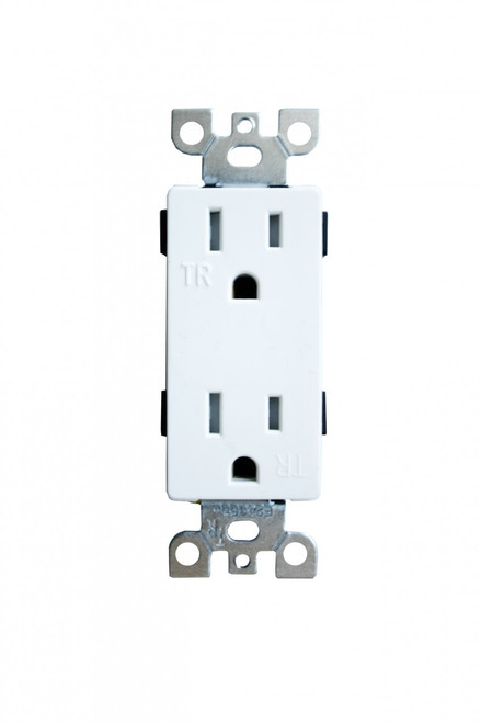 (RDW/TR) Decorative Receptacle 15Amp White Tamper Resistant