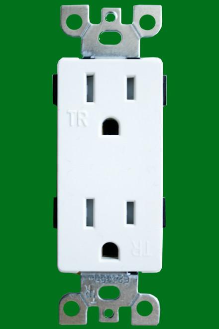 (RDW/TR) Decorative Receptacle 15Amp White Tamper Resistant