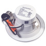 Make white painted stamped aluminum body. Oversized trim ring constructed from one-piece stamped aluminum body. 3 Tension clips pre-installed on unit for easy installation. E26 medium screw-base Edison adaptor provides easy installation into Incandescent housings.
