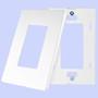 (WDW-SCREWLESS) Decorative Screwless Wallplate 1- Gang White