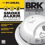 BRK Smoke Alarm Hardwired with 10YR Lithium Battery Locked Battery Drawer