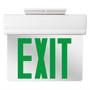 Edge Lit LED Emergency Exit Light Green