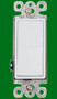 (SDW) Decorative Single Pole Switch 15A White