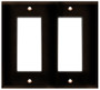 (WD2BRN) Decorative Wall Plate 2-Gang Brown