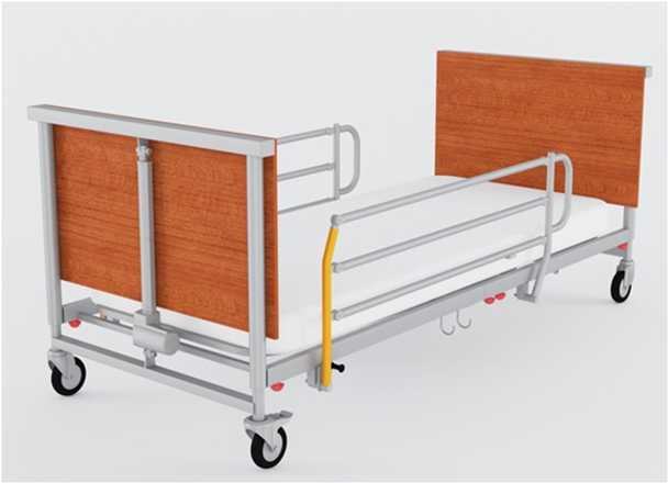 2 MOTORS HOME CARE BED - METAL SIDE RAILS - SERENITY