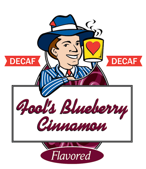 Fool's Decaf Blueberry Cinnamon Swirl