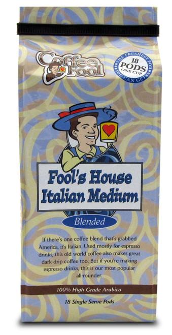 Fool's House Italian Medium Pods - 18 Single Serve