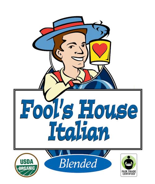Fool's Organic Fair Trade House Italian Pods - 18 Single Serve