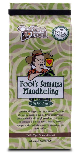 Fool's Sumatra Mandheling Pods - 18 Single Serve