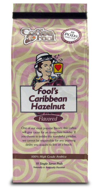 Fool's Caribbean Hazelnut Pods - 18 Single Serve