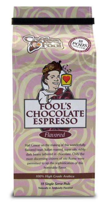 Fool's Chocolate Espresso Pods - 18 Single Serve