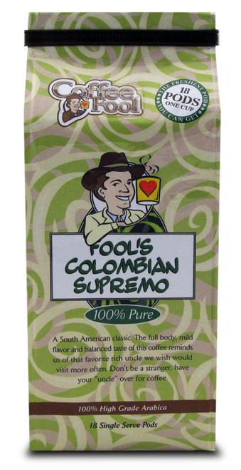 Fool's Colombian Supremo Pods - 18 Single Serve