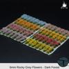 Rocky Grey Realistic Flower Sampler