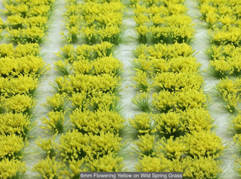 6mm Self-Adhesive Static Grass Tufts - Wild Flowering Packs