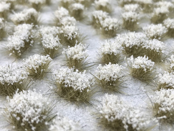 Self-Adhesive Static Grass Tufts - 6mm Autumn Snow