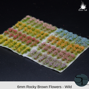 Rocky Brown Realistic Flower Sampler