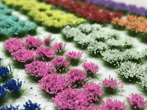 4mm Self-Adhesive Static Grass Tufts - Flower Sampler