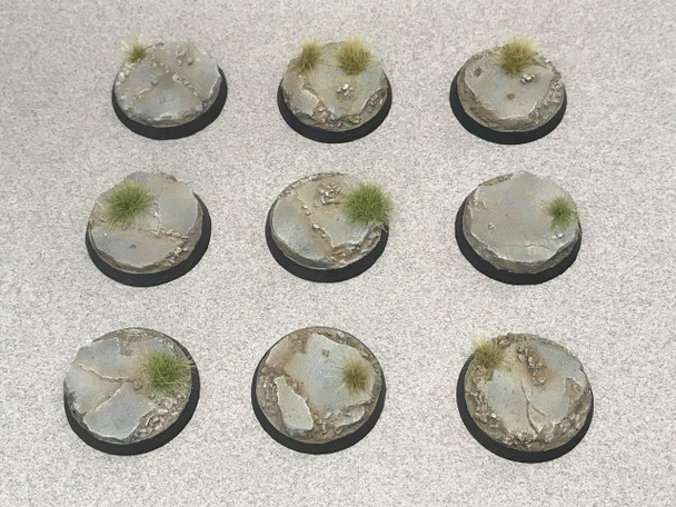 Scenic Resin Bases - Urban Rubble 32mm Beveled Edge Bases 10x