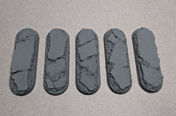Scenic Resin Bases - Urban Rubble 70 x 25mm 5x