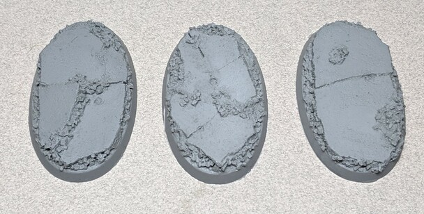 Scenic Resin Bases - Urban Rubble 60 x 35mm 3x