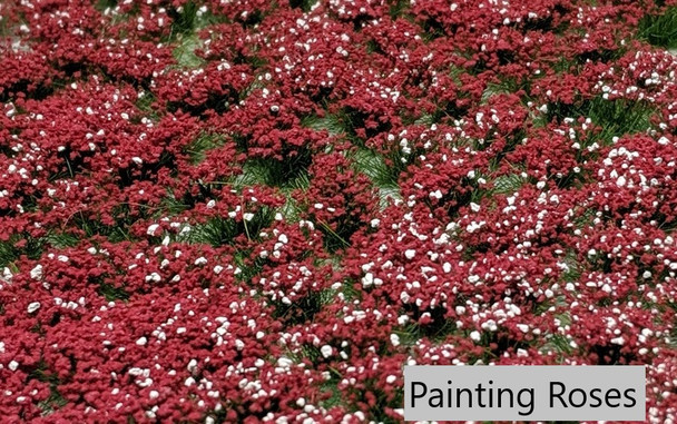 6mm Realistic Self-Adhesive Flowering Tufts - Dark Forest