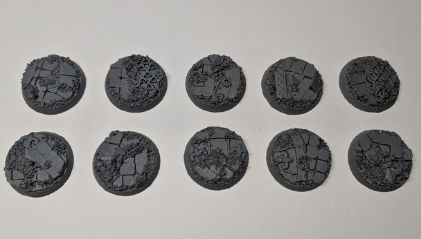 Scenic Resin Bases - Rosarium 28mm 10x