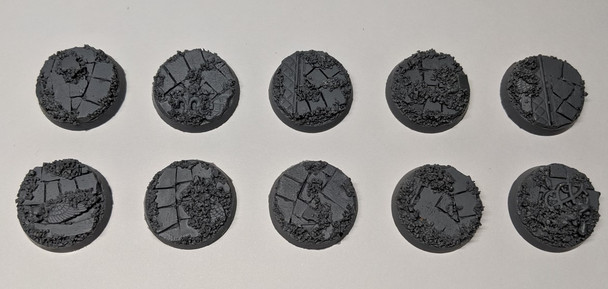 Scenic Resin Bases - Rosarium 25mm 10x