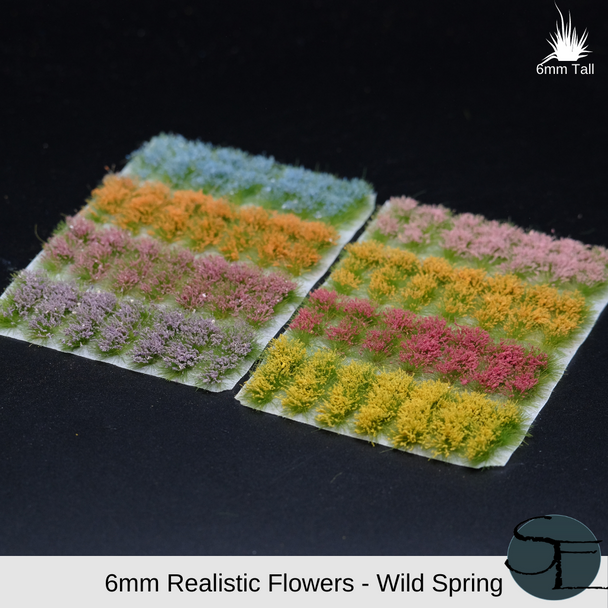 6mm Wild Spring Self-Adhesive Grass Tufts