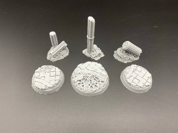 Scenic Resin Bases - Rosarium 40mm Heroic and Bodyguards Flight Stands