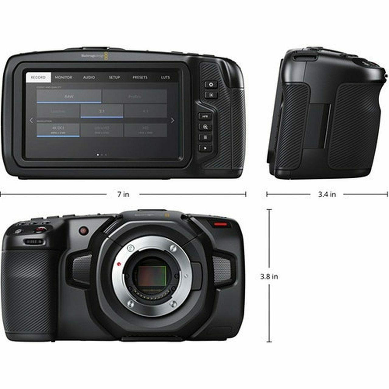 Blackmagic Design Pocket Cinema Camera 4k With Case