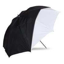 "Westcott 45"" Optical White Satin w/ Removable Black Cover Umbrella"