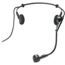 """Audio-Technica ATM75CW Cardioid condenser headworn microphone with 55"""" cable terminated with locking 4-pin HRS-type connector for wireless systems using UniPak transmitters"""