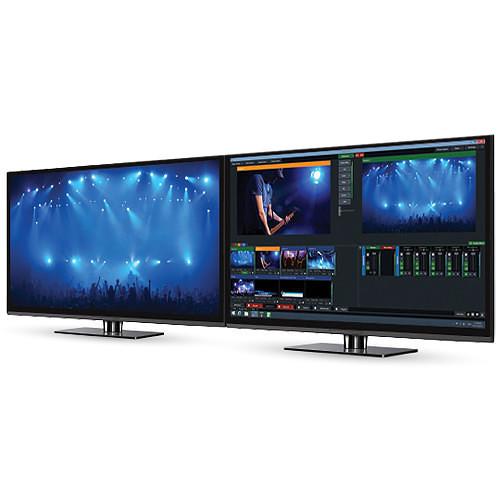 vMix 4K Software and 2 PTZ Optics 12x SDI Grey PTZ Cameras