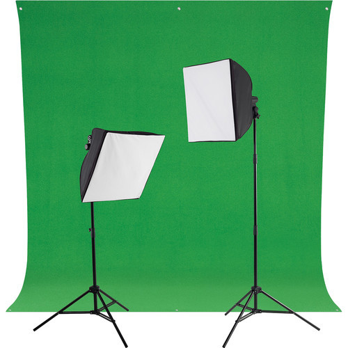 Westcott 401NL uLite LED Green Screen Photo Lighting Kit