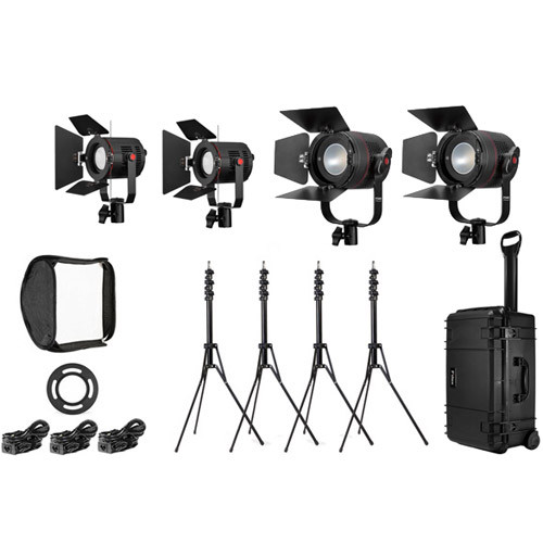 Fiilex K411CL - 4 Light Interview Kit with 2x P360 Classic, and 2x P180E