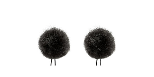 Bubblebee Industries Windbubble Miniature Imitation-Fur Windscreen, Twin Pack (Lav Size 1, 28mm, Black)