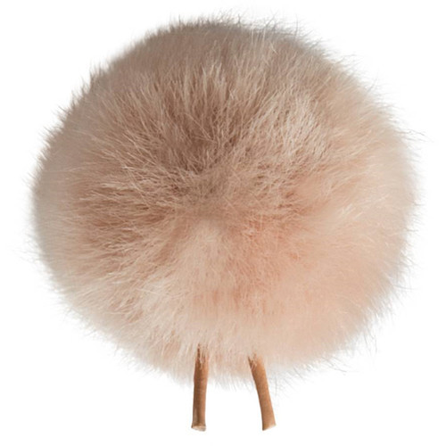 Bubblebee Industries Windbubble Miniature Imitation-Fur Windscreen (Lav Size 1, 28mm, Beige)