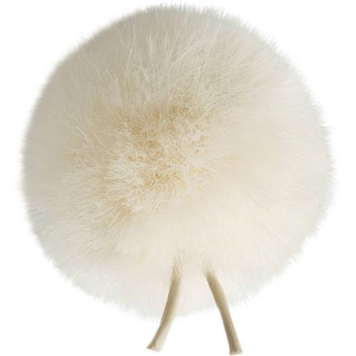 Bubblebee Industries Windbubble Miniature Imitation-Fur Windscreen (Lav Size 2, 35mm, Off-White)