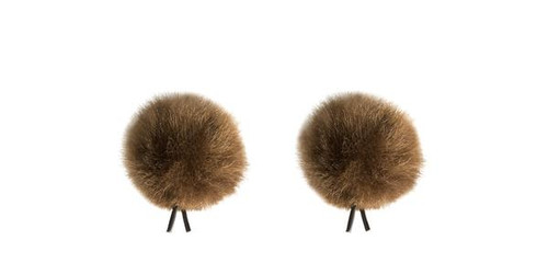 Bubblebee Industries Windbubble Miniature Imitation-Fur Windscreen, Twin Pack (Lav Size 1, 28mm, Brown)