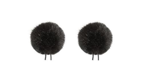 Bubblebee Industries Windbubble Miniature Imitation-Fur Windscreen, Twin Pack (Lav Size 2, 35mm, Black)