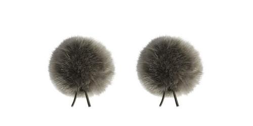Bubblebee Industries Windbubble Miniature Imitation-Fur Windscreen, Twin Pack (Lav Size 2, 35mm, Grey)