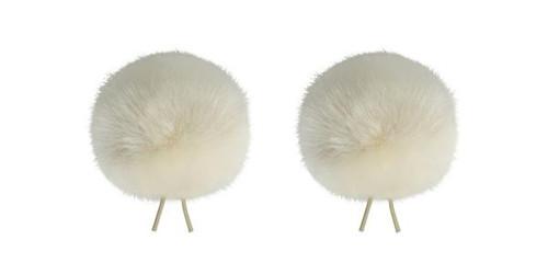 Bubblebee Industries Windbubble Miniature Imitation-Fur Windscreen, Twin Pack (Lav Size 3, 40mm, Off-White)