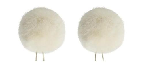Bubblebee Industries Windbubble Miniature Imitation-Fur Windscreen, Twin Pack (Lav Size 4, 42mm, Off-White)