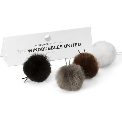 Bubblebee Industries Windbubbles United Furry Windbubbles for Lav Mics 5 to 8mm (4-Pack)